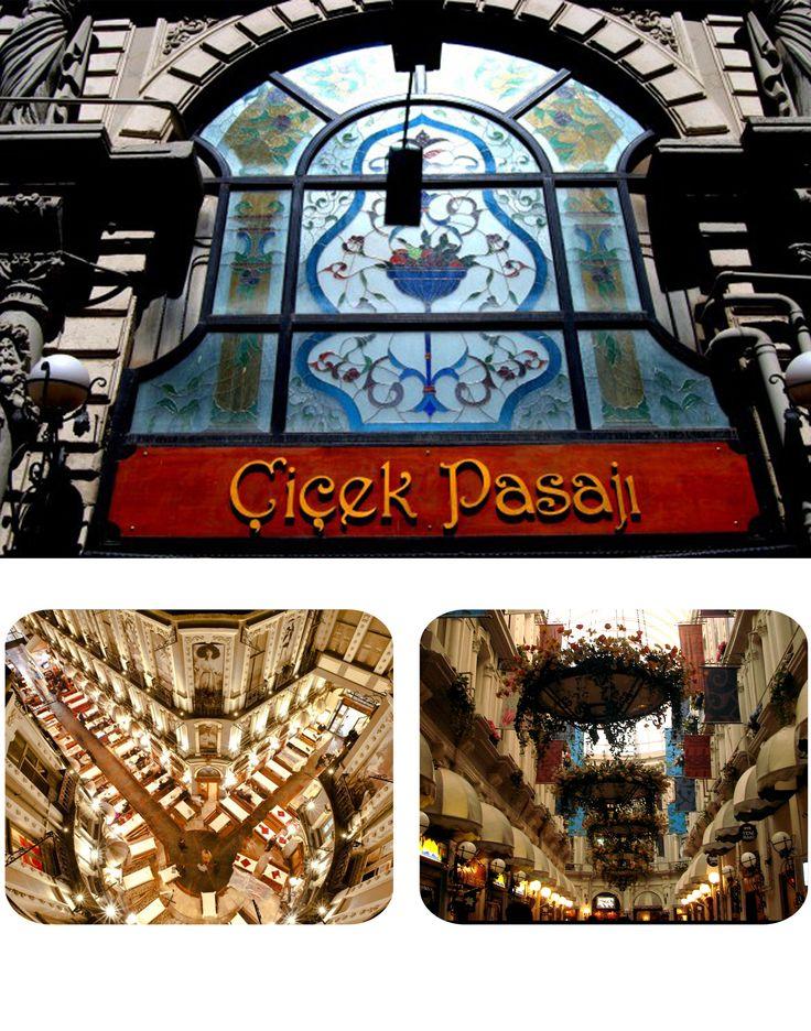 Çiçek Pasajı Beyoğlu'nun en eski şahitlerinden biridir.Her dönem Beyoğlu'nun en gözde mekanlarından biri olmayı başarmış. Tarihi atmosferi , muhteşem mimarisi, eğlencesi ve lezzetli yemekleri ile mutlaka görmeniz gereken bir yer. (Otelimize sadece 10 dakika yürüme mesafesinde.) Flower Passage It is one of the oldest witnesses of Beyoğlu. Each period it has become one of the most popular places in Beyoğlu. You should definitely see it with its historical atmosphere, magnificent architecture…
