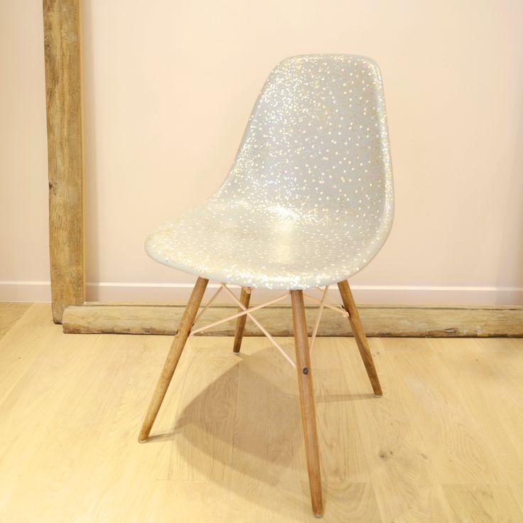 Des petits hauts DIY chaise pailletée