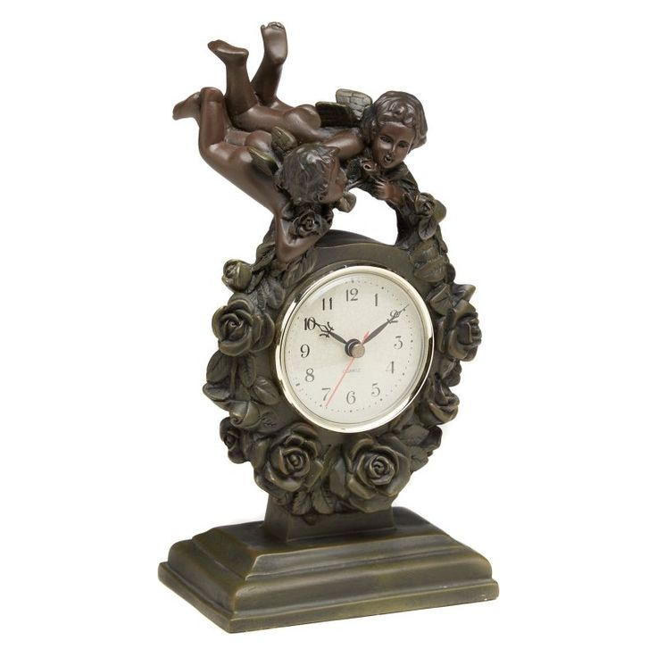 AA Importing Flying Cupids Desktop Clock - 6571