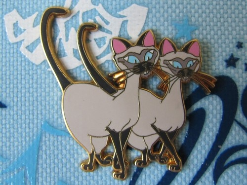 Disney Trading Pin - Si & Am Siamese Cats Lady And The Tramp Villains - 35662