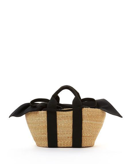 1174f5f61ee1a Muun Woven George Basket Tote Bag Beige $195 BUY ONLINE FREE SHIPPING Or  SAME DAY PICK UP BeachMotivation.Shop
