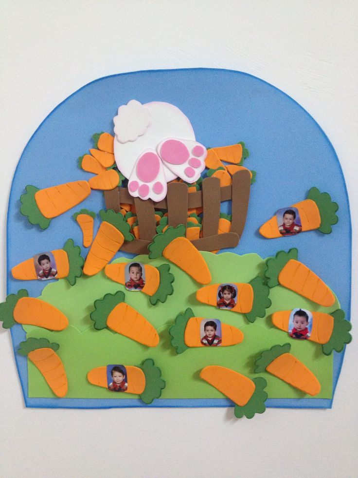 Classroom Door Decoration Ideas For Summer ~ Bunnies attendance chart carrots foam classroom