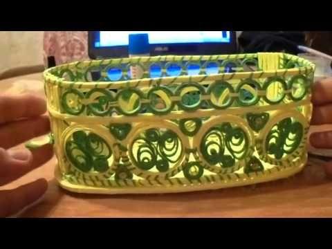 мк ажурной овальной шкатулки торсион папье - YouTube