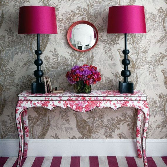 These pink table lamps are so pretty. A pair of these would look add a touch of femininity to any table!