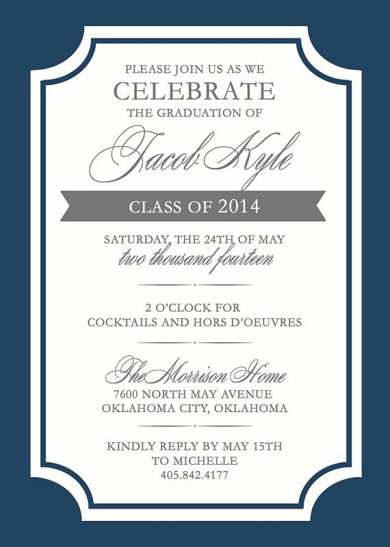 Formal Graduation Invitation Design - Photos Class Year