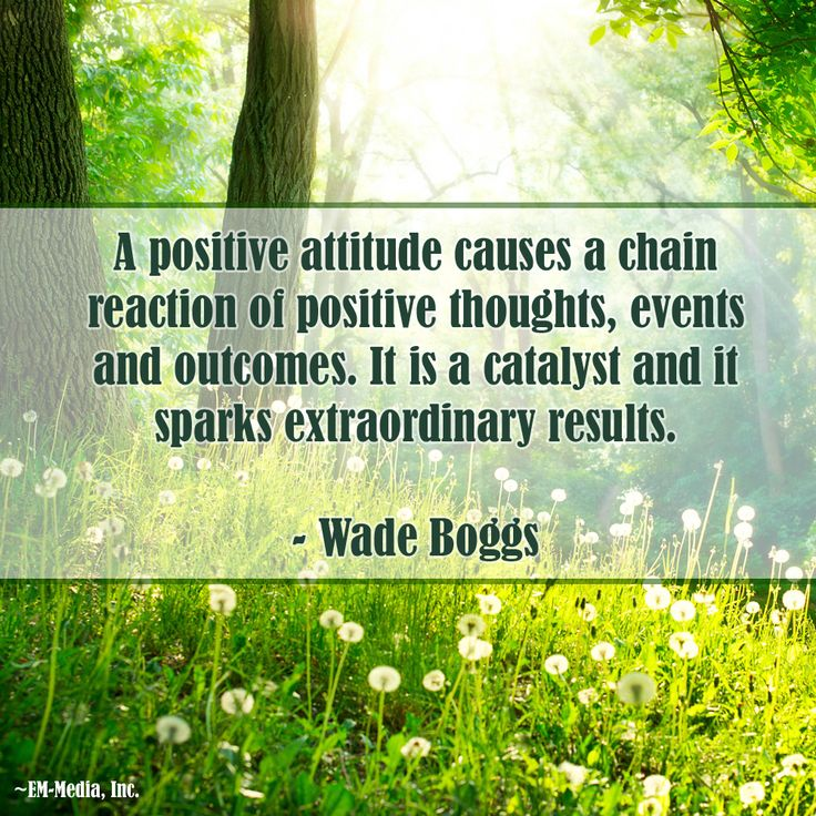 A positive attitude causes a chain reaction of positive thoughts, events and outcomes. It is a catalyst and it sparks extraordinary results. ~Wade Boggs @Em-Media, Inc.