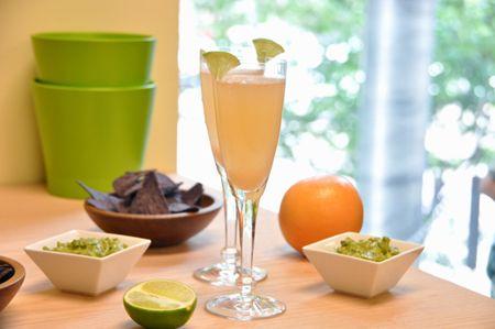 Fresh squeezed Grapefruit & Lime Mimosas for Cinco de Mayo ...