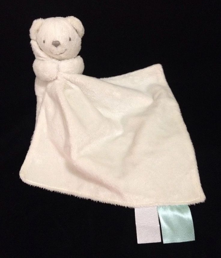 marks and spencer white bear baby soft toy with comforter. Black Bedroom Furniture Sets. Home Design Ideas