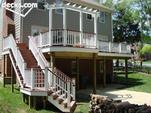 High elevation deck picture gallery colors outdoor for High deck ideas