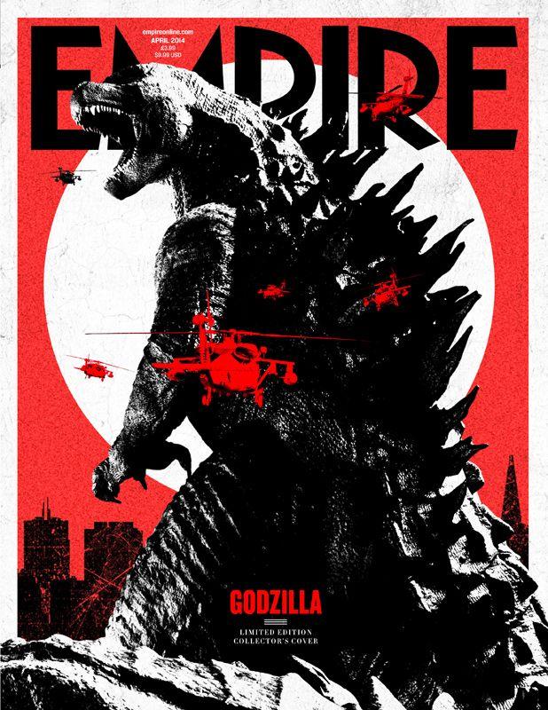 Full Frontal Photo of GODZILLA - Empire Magazine Cover
