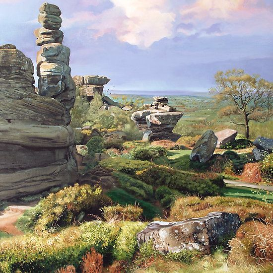 Brimham Rocks - Brimham Rocks are balancing rock formations on Brimham Moor in North Yorkshire, England.