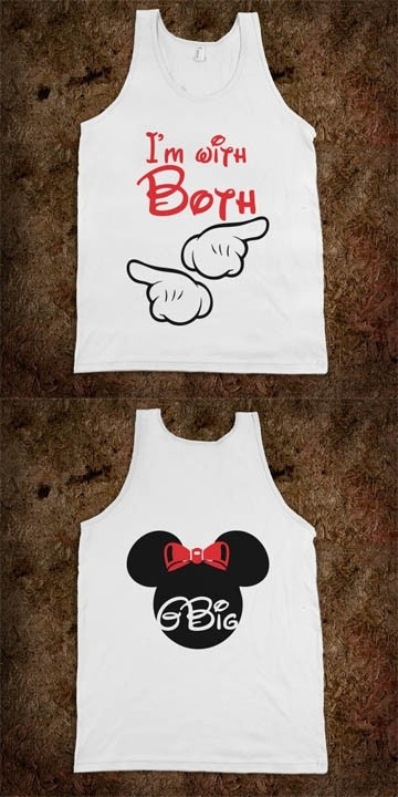 Big Sis Lil Sis Reveal Frat Tank - Mouse Themed - GBIG! I'm with both - goes with I'm with Little and I'm with Big! CLICK HERE to purchase :) Sorority Shirts