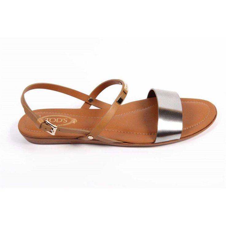 Camel 36 EUR - 6 US (241mm) Tods ladies flat sandal XXW0II0G9701GJ193I