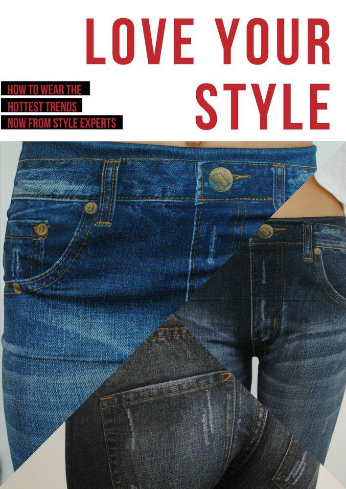 leggings pantalone donna jeans elasticizzato TU shoponline at laintimalingerie/ebay