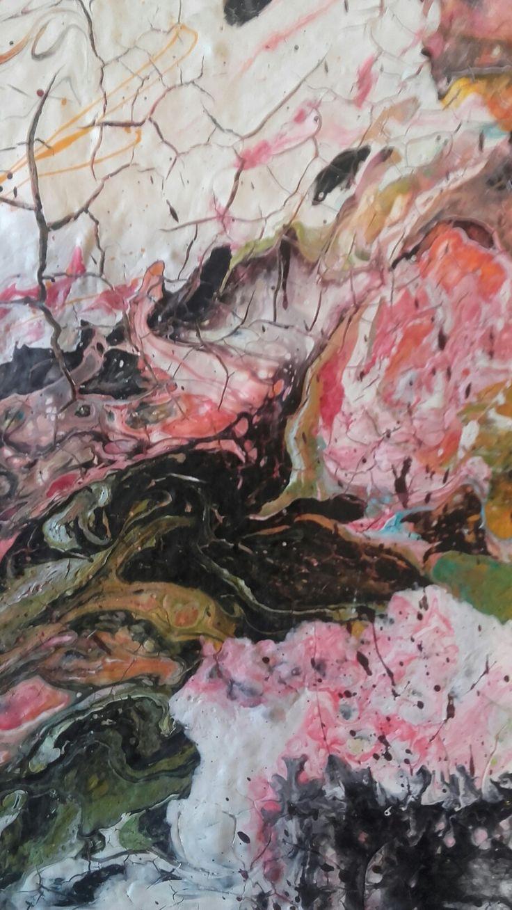 sezione di acrilico su tela by M.Cristina De Amicis