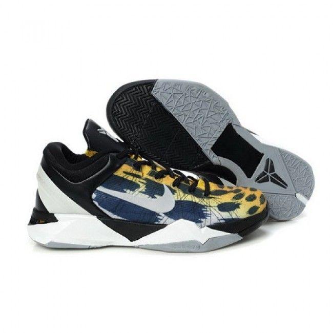 Kobe 7 For Sale,Lebron James,Kobe Bryant Shoes Leopard Yellow Navy Silver