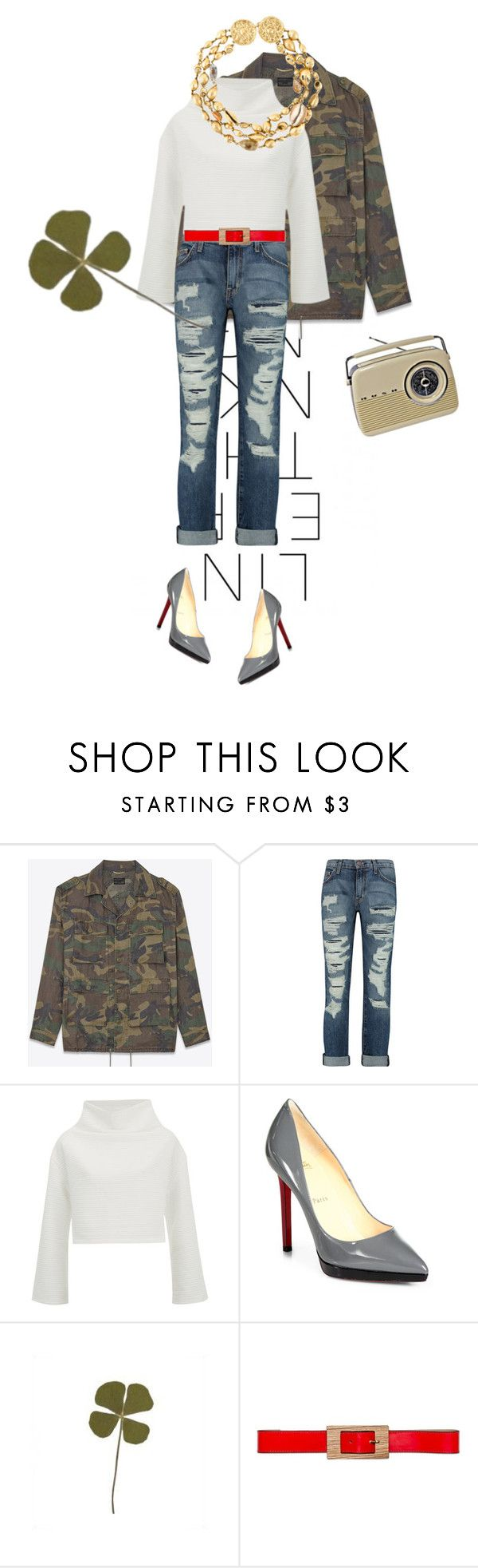 """I hear mariachi static on my radio"" by misnik ❤ liked on Polyvore featuring Yves Saint Laurent, Current/Elliott, Christian Louboutin, Marni, women's clothing, women, female, woman, misses and juniors"