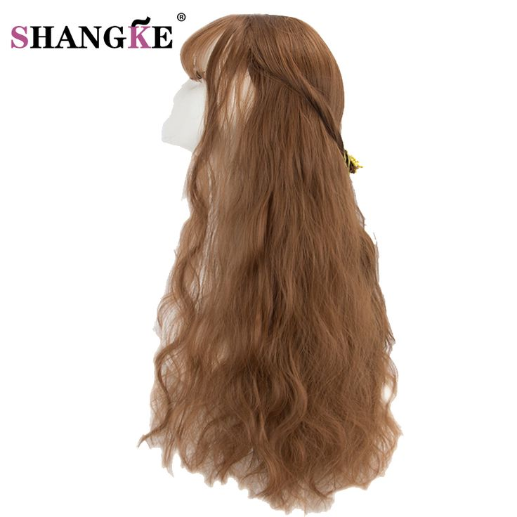 """SHANG KE 26""""  Blonde Wigs Long Hairstyles  Long Kinky Curly Synthetic Wigs for Black Women High Temperature Synthetic Womens  #Affiliate"""