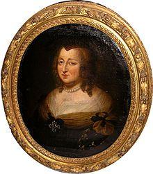 Anne d'Autriche (1601-1666)  mère de Louis XIV, le « roi Soleil », et de Philippe, duc d'Orléans