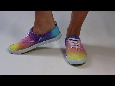 Geverfde regenboog schoenen - Appeltjessap