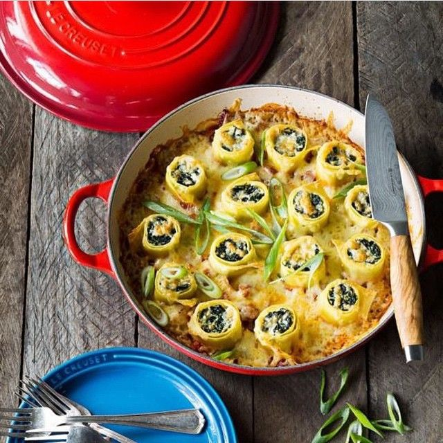 This is how I roll on a Monday! Spinach & Ricotta rolls are filling the family bellies tonight! Recipe on the blog tomorrow! Enter my #LeCreuset #Giveaway now on 30AEats.com! Too easy! This braiser can bake bread the best lamb chops paella you name it! Come to the cooking demo tomorrow at 6pm If in #SouthWalton at Le Creuset @SilverSandsPremiumOutlets with @beachychef!! Don't need to be present to win! Mail to USA address! #mondaymotivation  by 30aeats