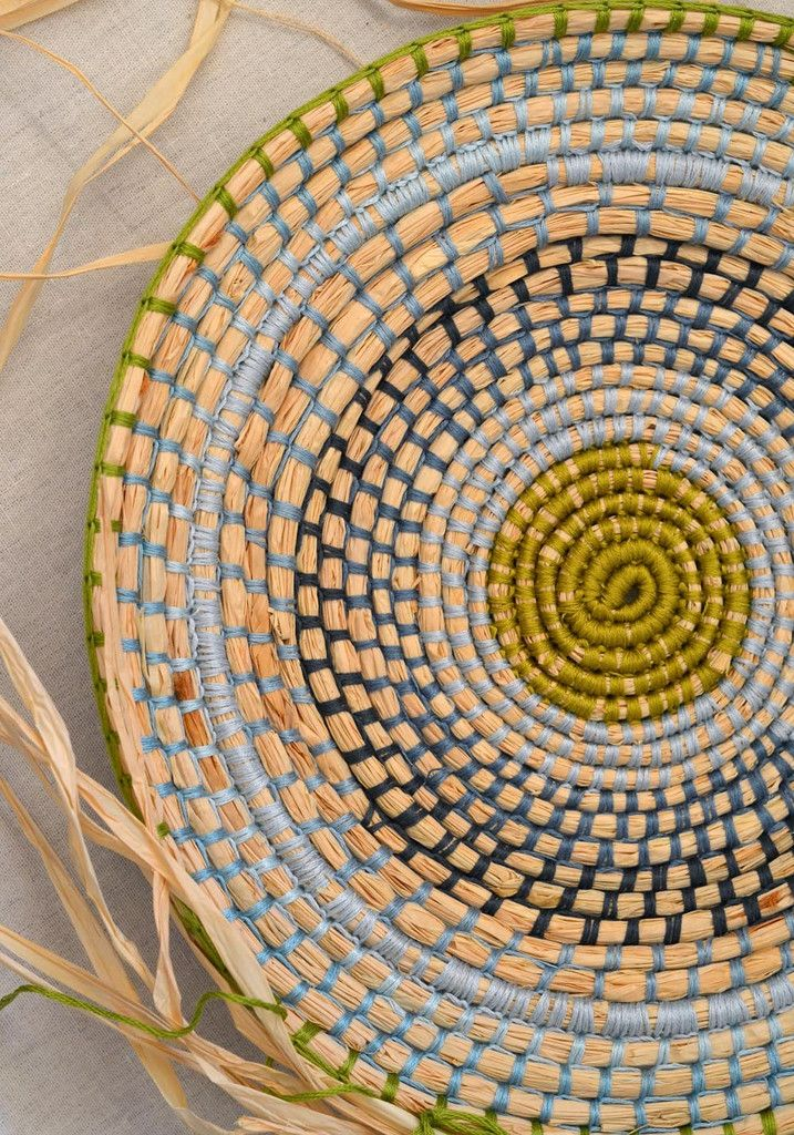 Weaving with raffia + embroidery thread! – String Harvest                                                                                                                                                     More