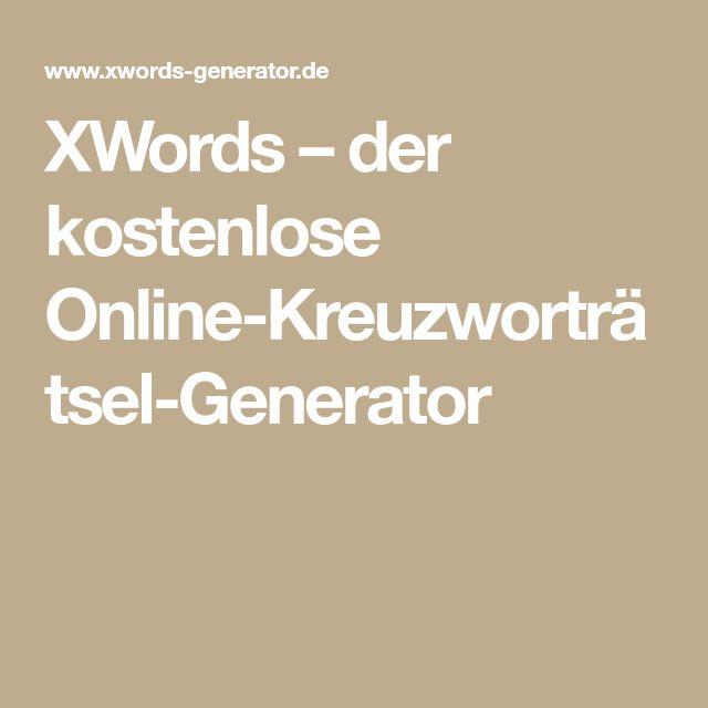 Kostenlose Online Kreuzworträtsel