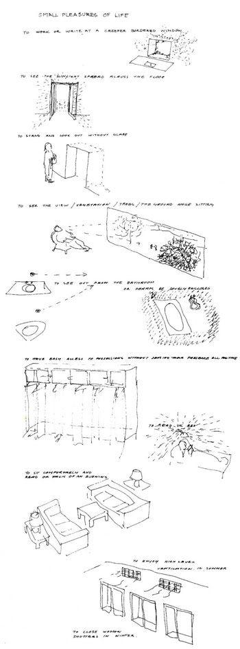 Los pequeños placeres de la vida; dibujos de Alison Smithson en la década de los cincuenta
