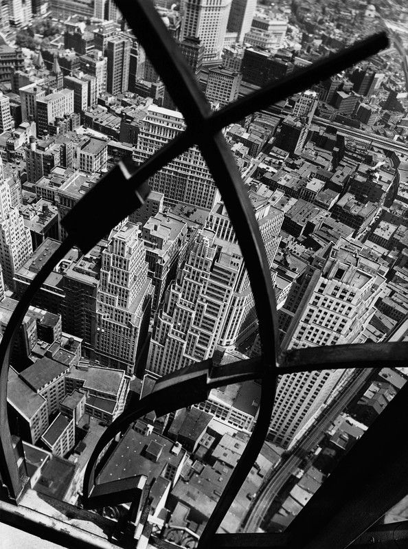 City Arabesque from the Roof of 60 Wall Street Tower, New York 1938  © Berenice Abbott / Commerce Graphics