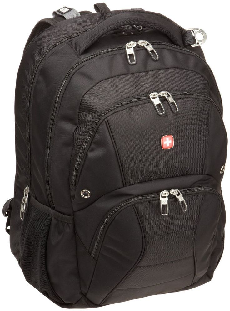 New SWISS GEAR Backpack Laptop Notebook Black Wenger 17 inch Computer Swissgear #SwissGear