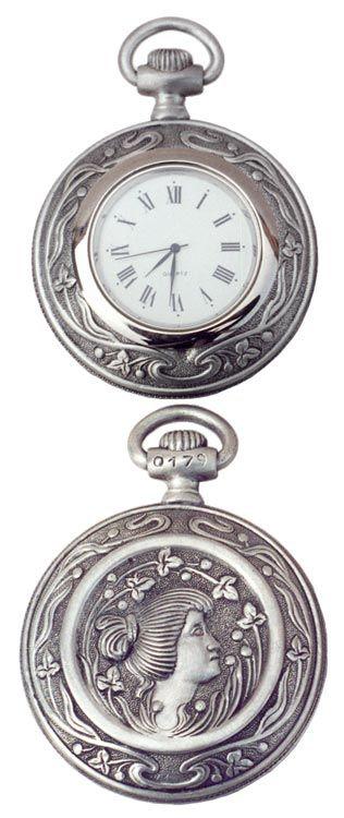 Orologio da tasca cm 6,5 (Peltro / Britannia Metal) - collezione: Cipolla. Cosi Tabellini.