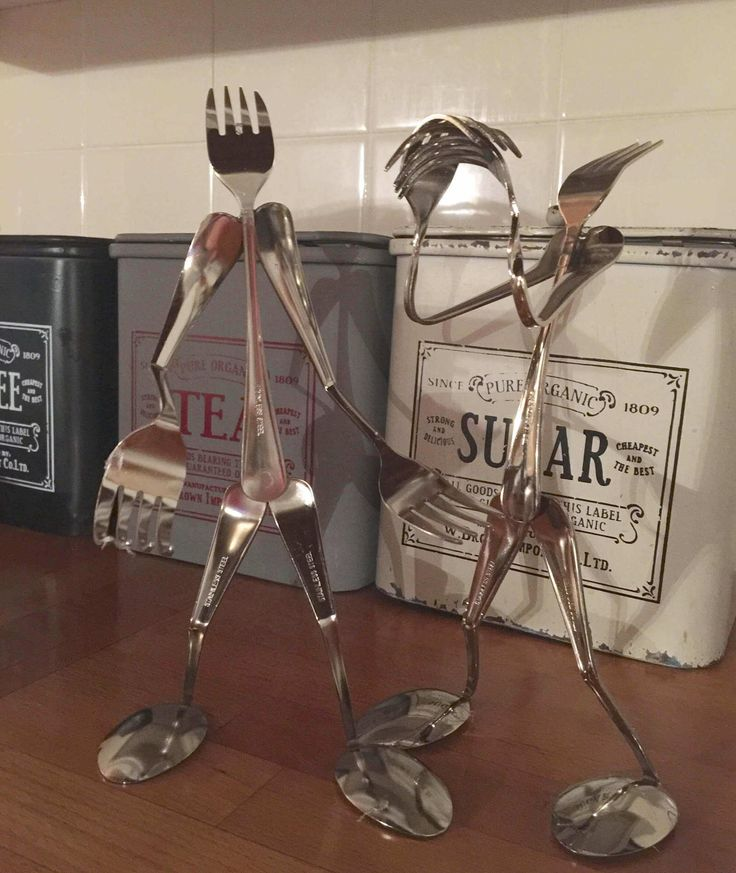 Meet the bebop breakdancing cutlery men, the ultimate unique ornament for Christmas