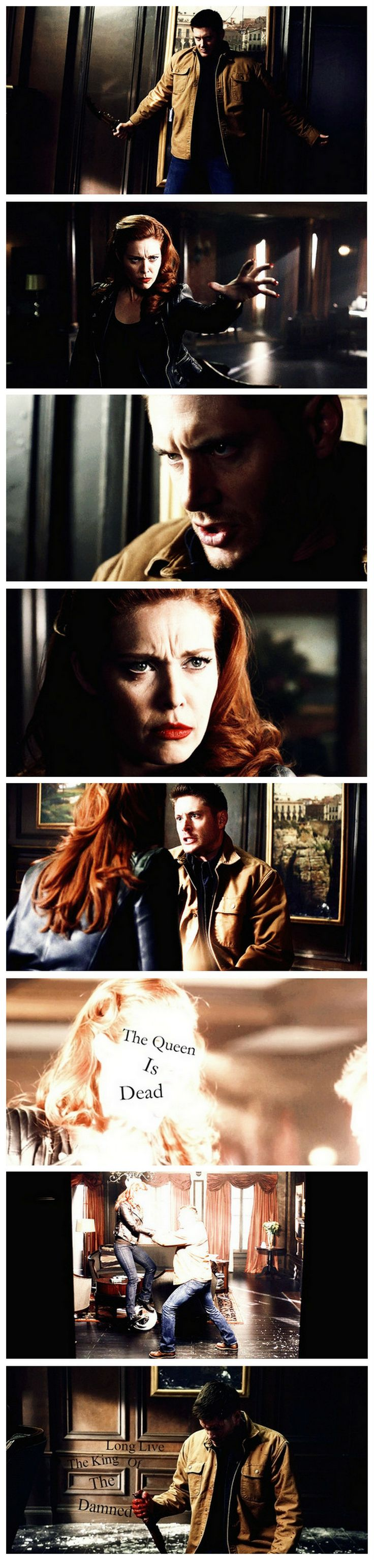 ♕ The Queen Is Dead. Long Live The King Of The Damned ♕ 9x21 King Of The Damned #SPN #Dean #Abaddon