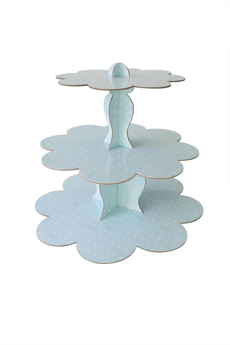 1 Cardboard Cupcake Stand, Blue - All the blues party packs $105 http://www.strawberry-fizz.com.au