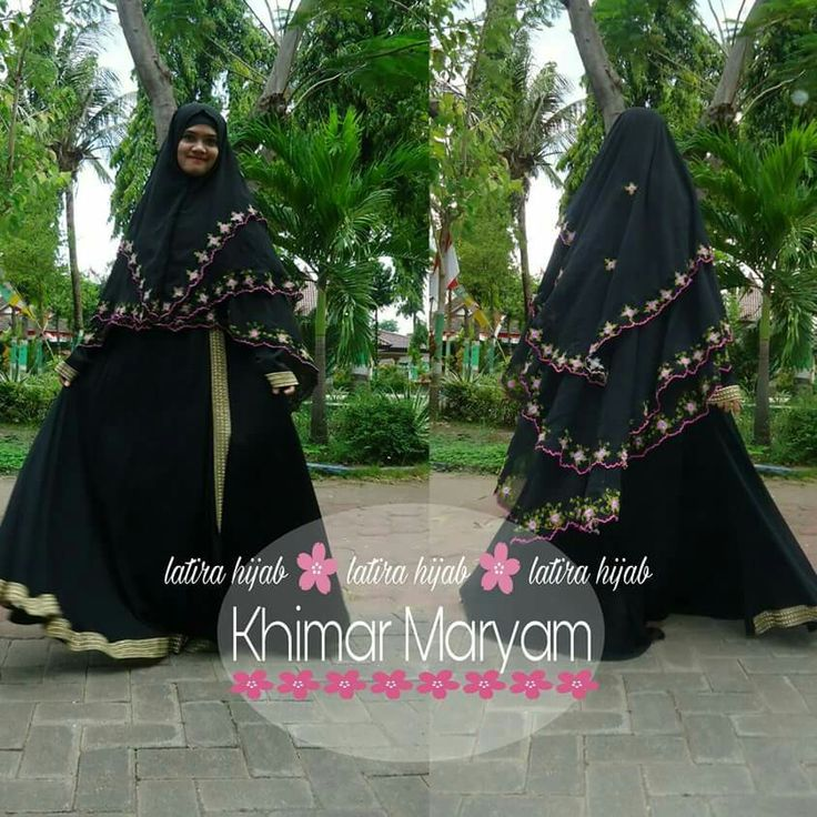 Abaya black is elegant. My Hijab with Embroidery.  I am wearing a product @latirahijab