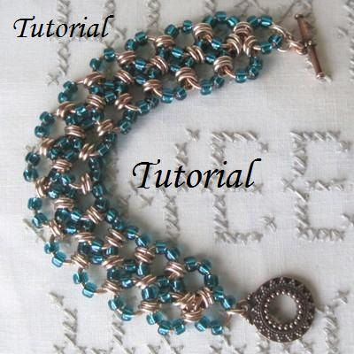 Tutorial  Beaded Chainmaille Bracelet  NA548T by danglingdivas, $3.95