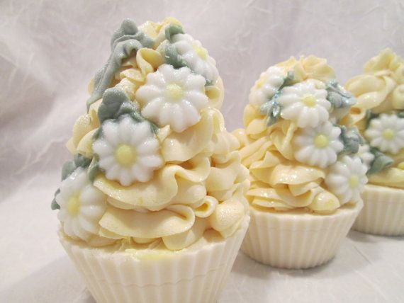 Daisy Chain Handmade Cold Process Cupcake Soap by GlowBodyandSoul, $5.75