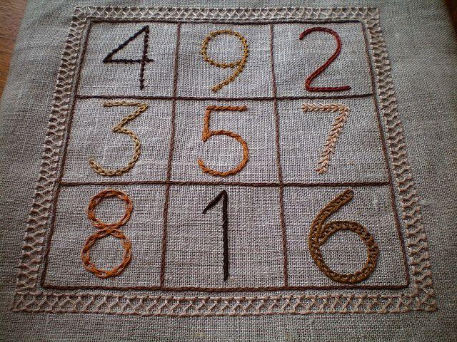 Magic Square Sampler (aka The Math Geek Sampler) by gotthebutton, via Flickr: Embroidery Ideas, Math Help, Math Geek, Http Www Helpmewithmath Com, Geek Sampler, Geek Tv, Sampler Aka, Magic Squares, Squares Sampler
