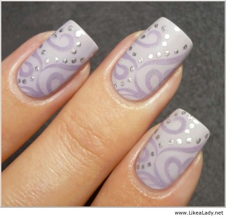Purple nail art