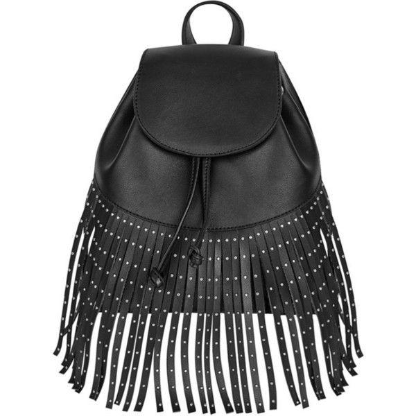 Skinnydip Cressida mini backpack ($35) ❤ liked on Polyvore featuring bags, backpacks, mini rucksack, bohemian backpack, studded backpack, drawstring backpacks and mini drawstring bags