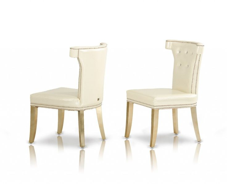 Die besten 25+ White leather dining chairs Ideen auf Pinterest - esszimmer 50er
