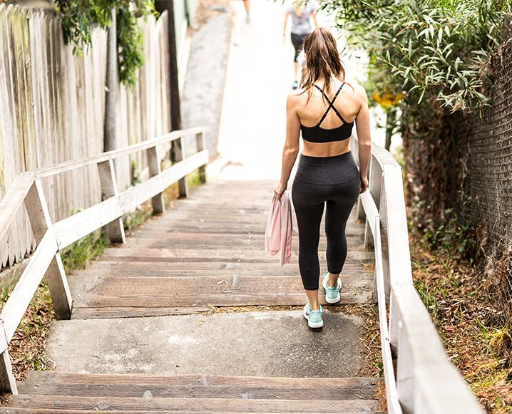 Everything you need to know about doing the Santa Monica stairs. It's a thigh burner, but those 170 steps leave you feeling sweaty and accomplished.