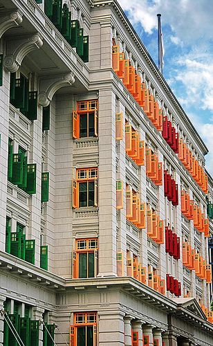 """MICA Building, or the """"Old Hill Street Police Station"""", is one of Singapore's most colorful colonial buildings. Nowadays it houses some great galleries and art exhibitions."""
