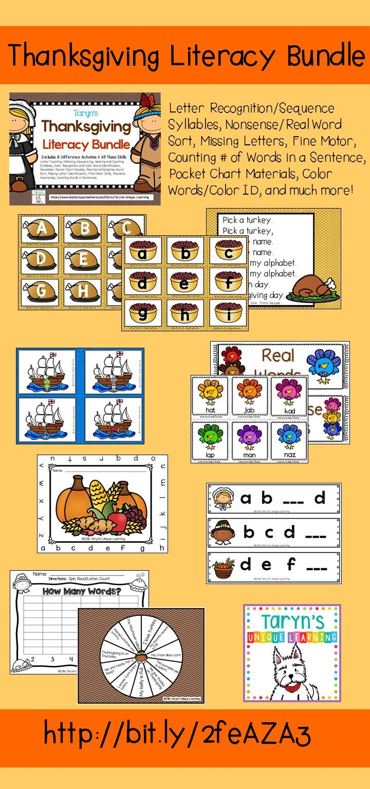 Come check out this cost saving bundle if you teach emergent readers.  Letter recognition/sequencing, Nonsense/Real Word Sort, Missing Letters, Counting Syllables, and much more!