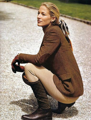 ♞ equestrienne Oh Elaine! A snapshot of understatement and style~truly a Poloroid