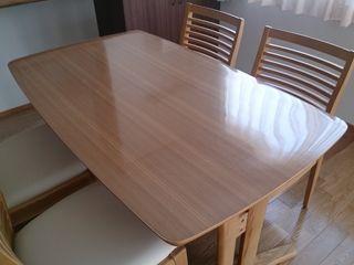 食卓ダイニングテーブルセット、透明テーブルマット | 家具屋さんの ... テーブルマット・クロス2mm厚3mm厚透明マット激安ネット専門店!