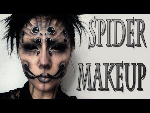 SPIDER Halloween Makeup Tutorial - YouTube