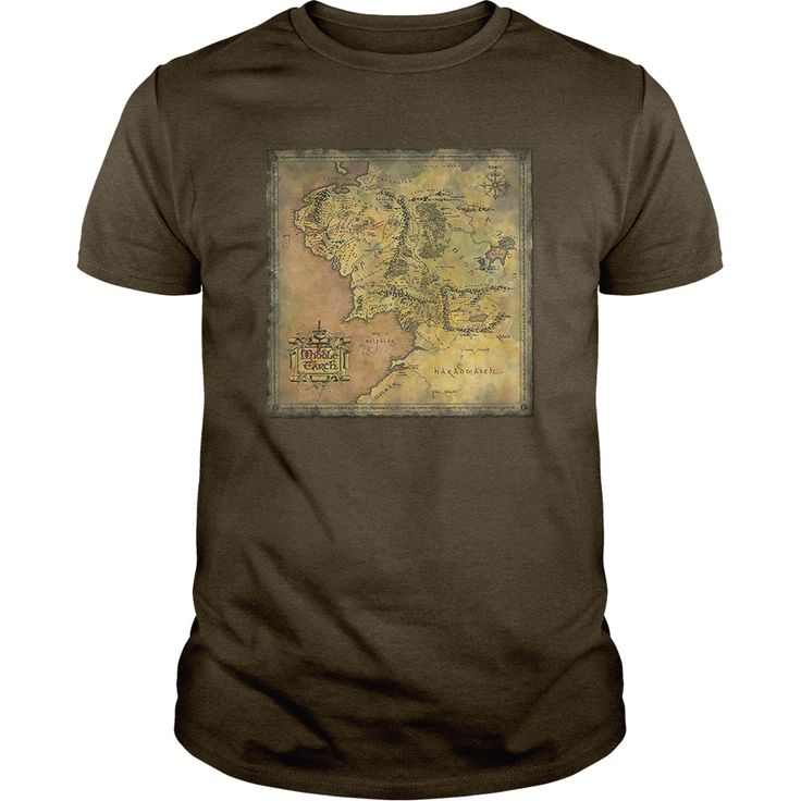Lord Of The Rings Middle Earth Map T-Shirts, Hoodies. ADD TO CART ==► https://www.sunfrog.com/Geek-Tech/Lord-Of-The-Rings--Middle-Earth-Map-Forest-Guys.html?id=41382