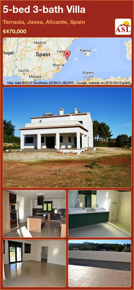 5-bed 3-bath Villa in Tarraula, Javea, Alicante, Spain ►€470,000 #PropertyForSaleInSpain