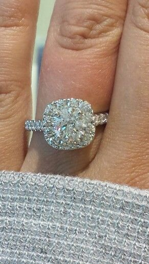 My Neil Lane Engagement ring, made in Italy! 8/15/13
